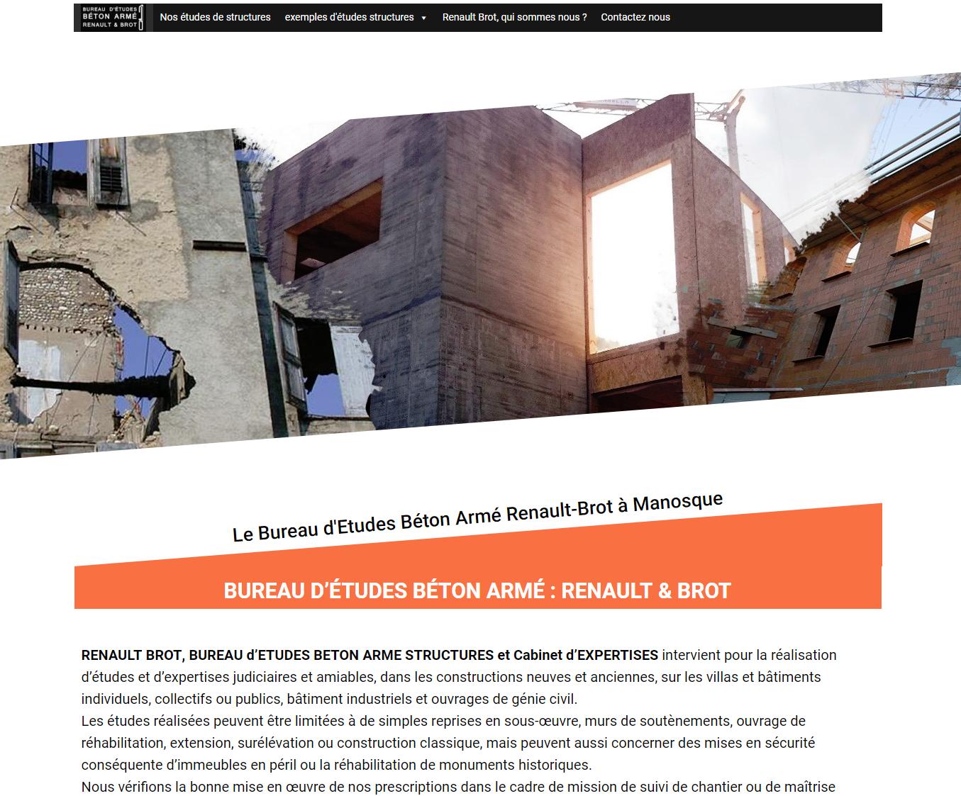 Bureau D Étude Béton Marseille bureau d'Études bÉton armÉ : renault & brot - le bureau d